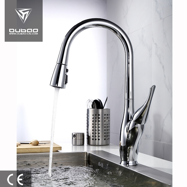 Chrome Finish Kitchen Faucet