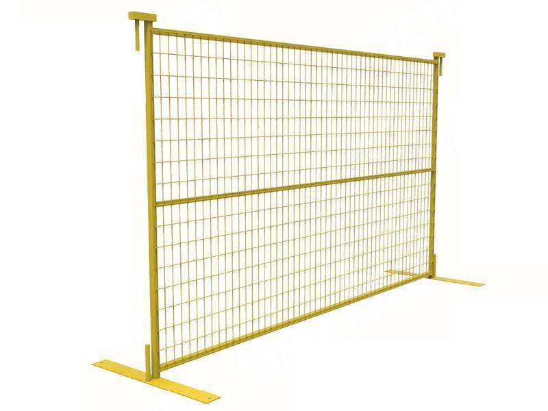 Yellow Canada Portable Fence 1