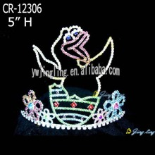 Custom Animal Bird Rhinestone Crown Tiaras