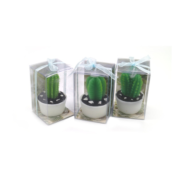 Artificial cactus shaped plant design candle
