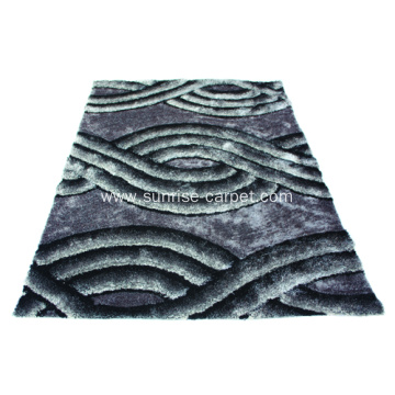 Polyester mix yarn 3D Shaggy Rug