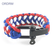 Supply for Outdoor Paracord Bracelet Womens Men's Survival 3 Color Paracord Bracelet supply to Spain Wholesale