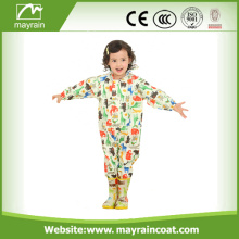 Children's PVC Coated Nylon Rainsuit Full Print