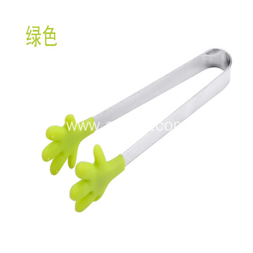 Stainless Steel  Small Palm Silicone Tongs