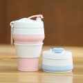 Reusable coffee cup collapsible silicone coffee cup mug