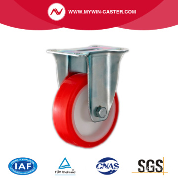 3'' Fixed Industrial PU Caster with PP core