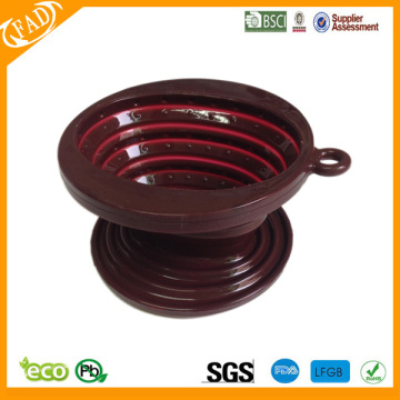 BPA free heat resistant collapsible Silicone coffee dripper