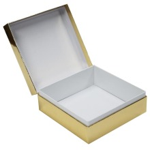 Gold Hinged Rectangle Gift Paper Box
