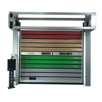 Garage Aluminum Alloy Turbine Hard Fast Shutter Door