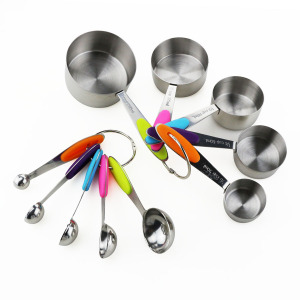 10PCS Stainless Steel Measuring Cup and Spoon Set