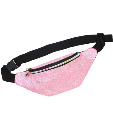 Custom Sport Pink Glitter Fanny Pack for Kids