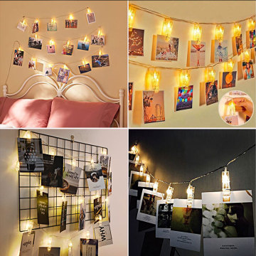 Led Fairy Lights Transparent Cable Photo Clips