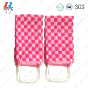 Checkered hot pink helpful bath belt