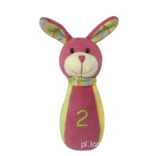 Baby Pink Rattle Rabbit Toy