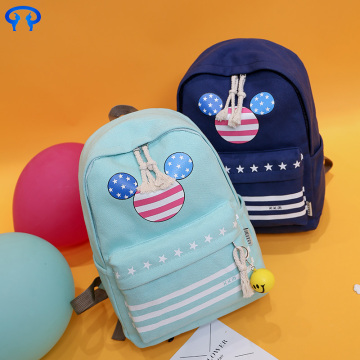 School fashion laptop canvas backpack