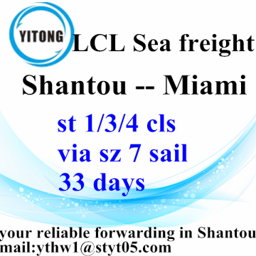 Shantou to Miami LCL bulk operations