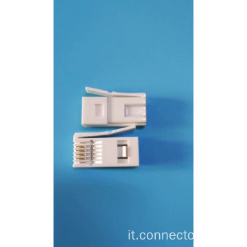 Connettore RJ11 a spina UK 6P4C / 6p6c