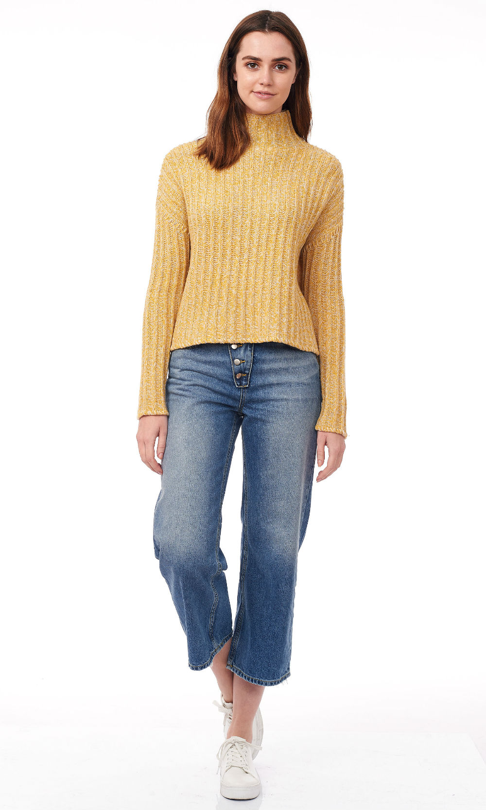 freesia turtle neck wide ribe knitwear front