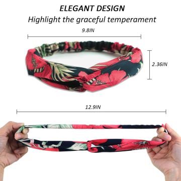 YouGa Vintage Headbands Women Elastic Headbands 6Packs