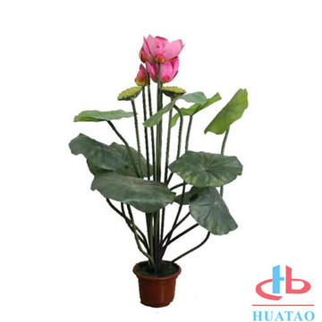 Green artificial plant with pot Indoor decoration