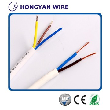 flexible copper conducter PVC insulated and sheathed round electric wire