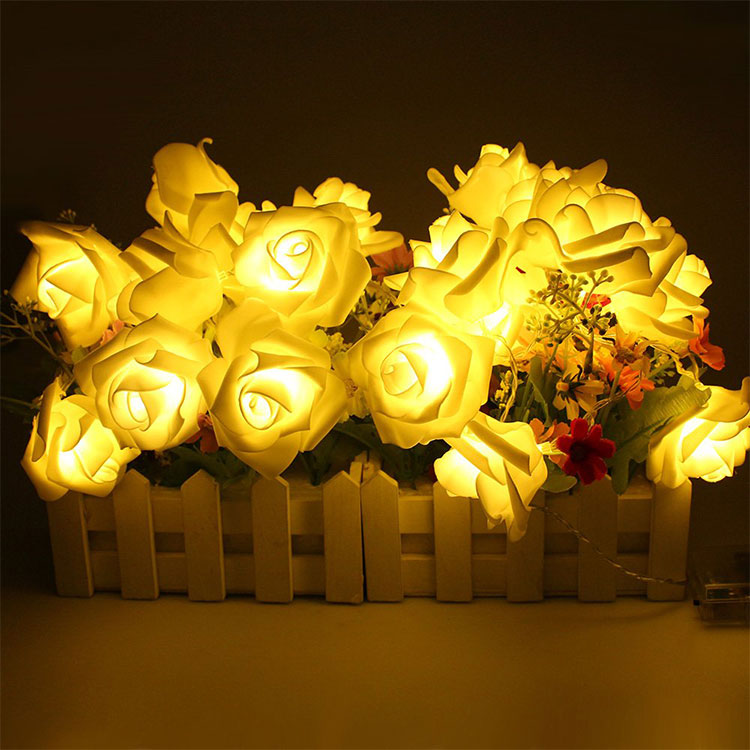 rose flower led light chain