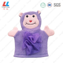 ODM for baby bath Gloves Purple animal children bath gloves shower export to Spain Manufacturer