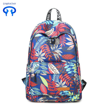 Canvas print middle school student leisure backpack