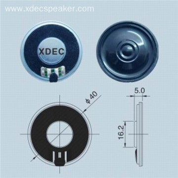 Ultra slim Φ40mm 8ohm 0.5w loud mylar speaker