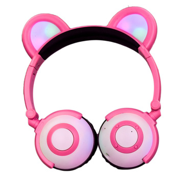 Christmas gifts led light kids wireless headphones
