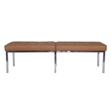 Classic Florence Knoll Leather Bench