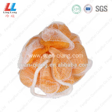 double mesh soap puff back scrubber for shower