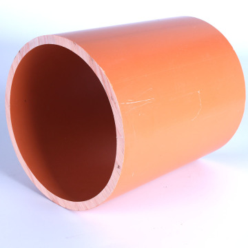 Orange Buried Large Diameter Electric Cable Pipe