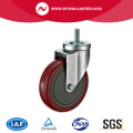 Threaded Stem Swivel Red PU Industrial Caster Wheels