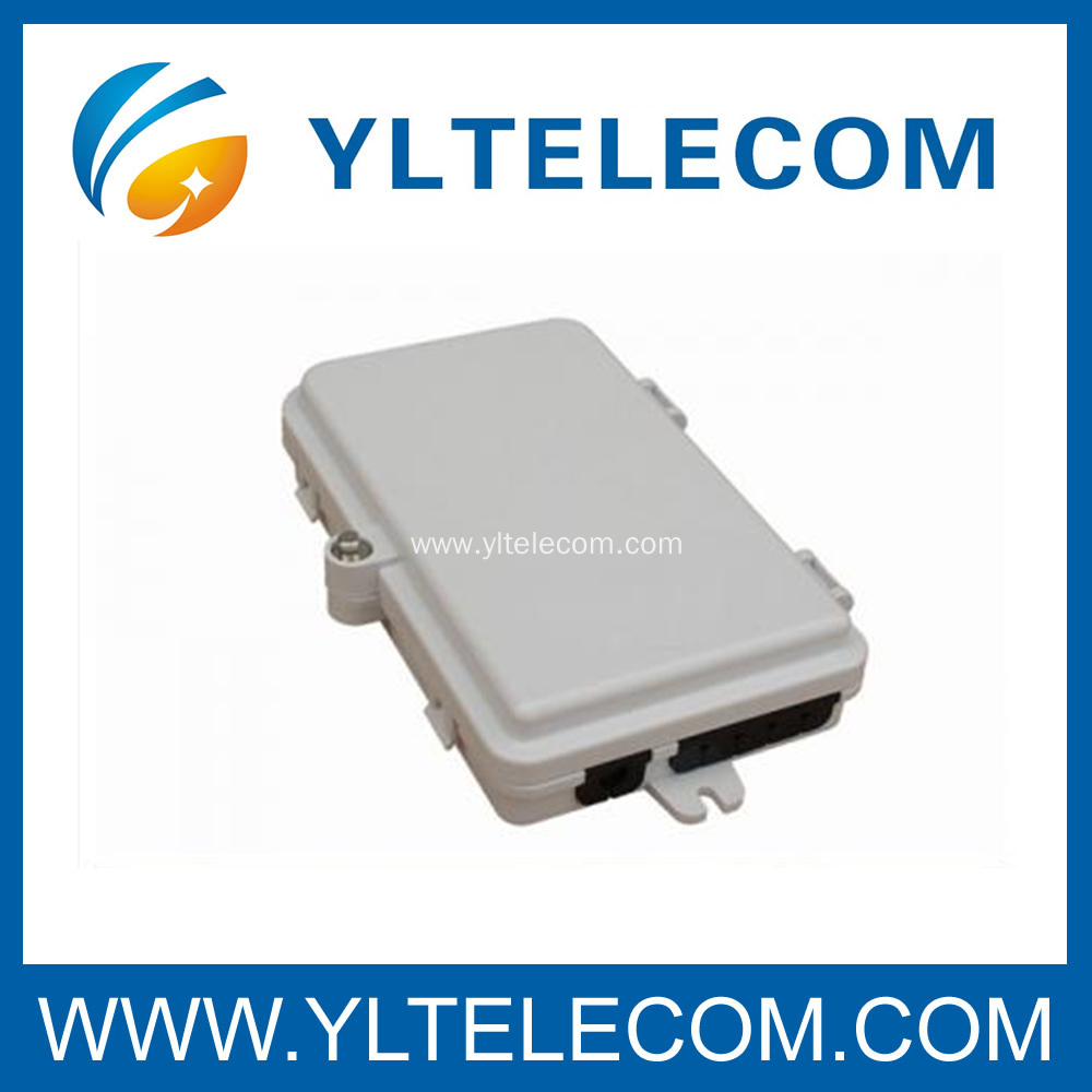 4 Core Fiber Optic Outdoor FTTH Termination Box