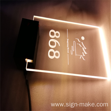 room hotel sign number numbers led signs signage contact china manufacturer