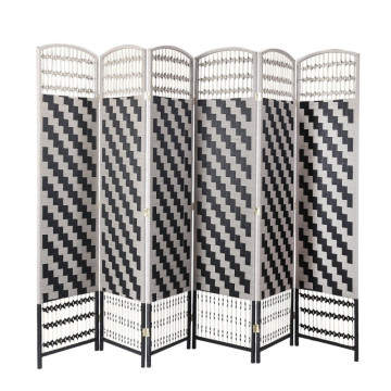 OEM/ODM for Folding Room Dividers 6 ft Tall Diamond Weave Fiber Chevron 6 Panel paper rope Room Divider supply to North Korea Wholesale