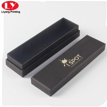 Rigid black carton box foil logo for jewelry