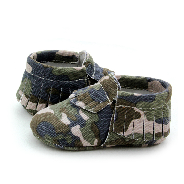 Camouflage Moccasin Shoes Baby