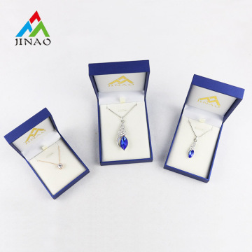 ODM for Classic Rectangle Jewelry Box Blue Paper Plastic Jewelry Box for Necklace supply to Central African Republic Suppliers