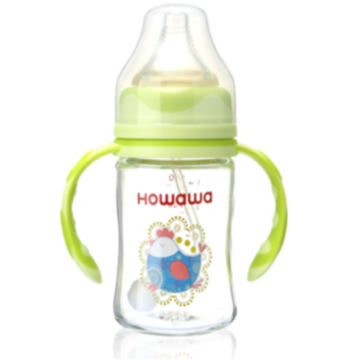 Infant Milk Bottle Glass Feeding Bottle 6oz
