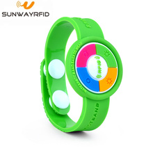 Soft PVC 125Khz RFID Wristband for theme Park