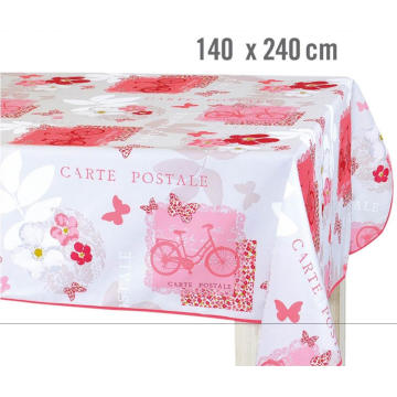 Pvc Printed fitted table covers Gauge Vinyl Tablecloths