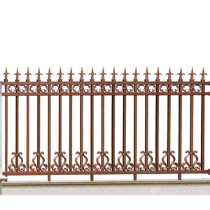 Tasseled Spear Aluminum Fence