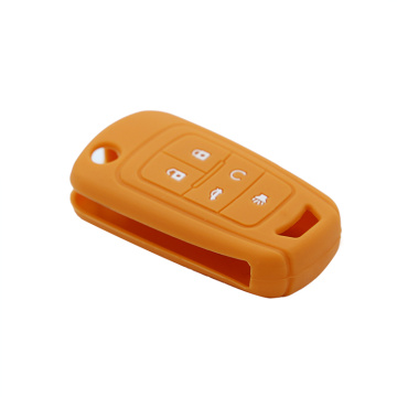 5 Button Silicone Chevrolet Car Key Case