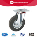 Plate Swivel Rubber Industrial Caster