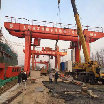 20 tons two hooks double girder gantry crane