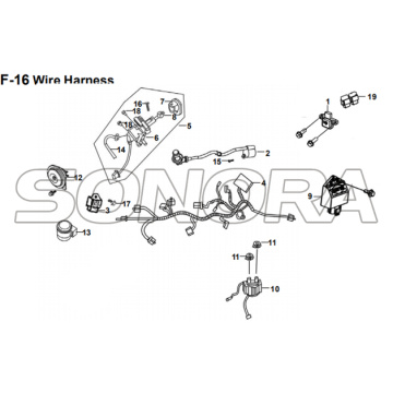 F-16 Wire Harness for XS175T SYMPHONY ST 200i Spare Part Top Quality