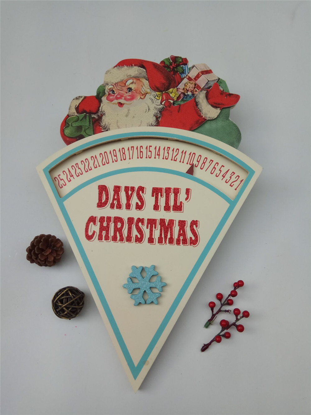 cheap wooden days till chirstmas decoration