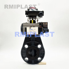 PVC Pneumatic Butterfly Valve Spring Return Type